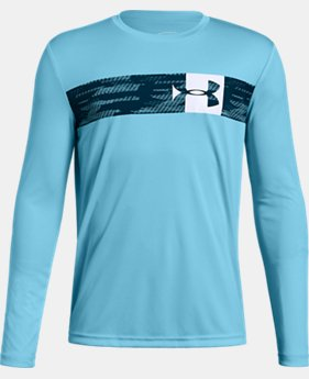 Boys' UA Pixel Crossbar Long Sleeve T-Shirt  5  Colors Available $30