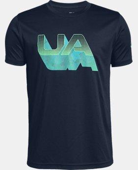 UA Lenticular Shadow - T-shirt à manches courtes avec logo pour garçon, 1 couleur offerte – $30