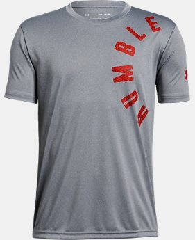 New Arrival  Boys' UA Humble & Hungry Short Sleeve T-Shirt  2  Colors Available $25