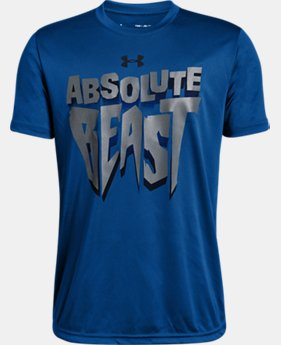New Arrival  Boys' UA Absolute Beast Short Sleeve T-Shirt  1  Color Available $25