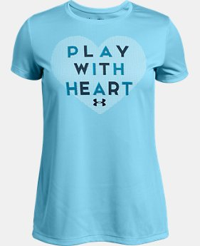 New Arrival Girls' UA Play With Heart T-Shirt FREE U.S. SHIPPING 1  Color Available $20