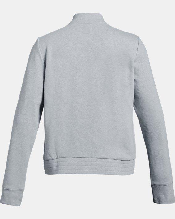 Girls' UA Rival Terry Track Jacket, Gray, pdpMainDesktop image number 1