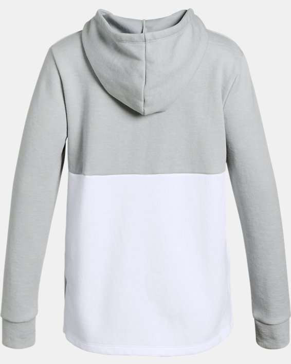 Girls' UA Unstoppable Double Knit Hoodie, Gray, pdpMainDesktop image number 1