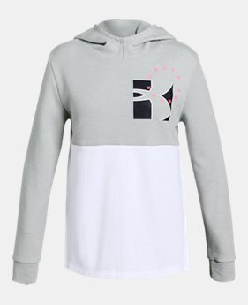 the latest ebb91 d5a2c Girls  UA Unstoppable Double Knit Hoodie 2 Colors Available  45