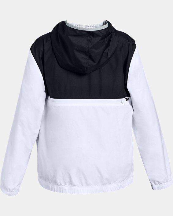 Girls' UA Sackpack ½ Zip Jacket, Black, pdpMainDesktop image number 1
