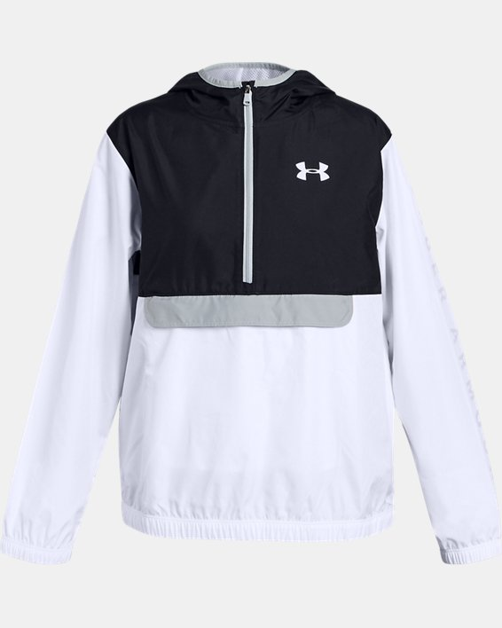 Girls' UA Sackpack ½ Zip Jacket, Black, pdpMainDesktop image number 0