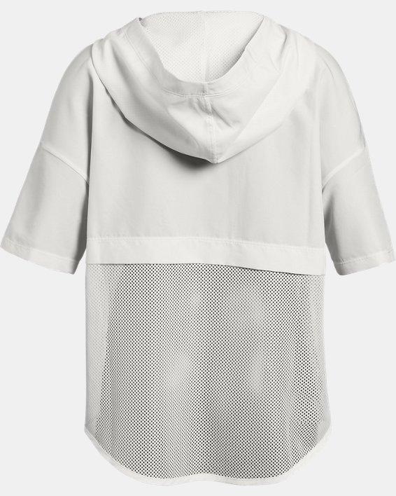 Girls' UA Infinity Caplette Jacket, White, pdpMainDesktop image number 1
