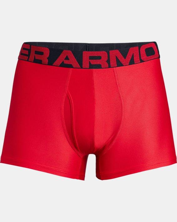 "Men's UA Tech™ 3"" Boxerjock® – 2-Pack, Red, pdpMainDesktop image number 2"