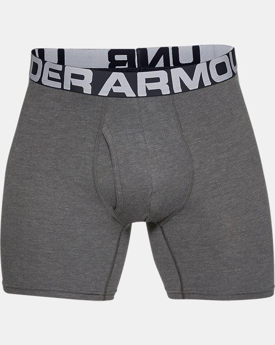 "Men's Charged Cotton® 6"" Boxerjock® – 3-Pack, Gray, pdpMainDesktop image number 4"