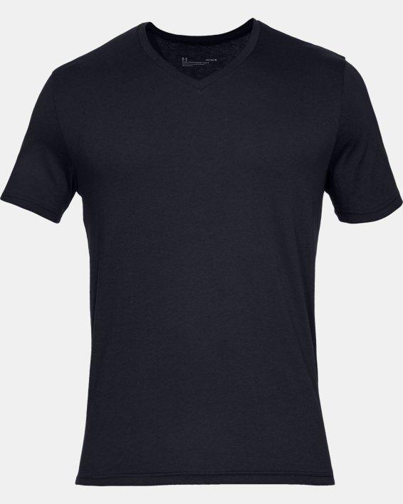 Men's Charged Cotton® V-Neck Undershirt – 2-Pack, Black, pdpMainDesktop image number 2