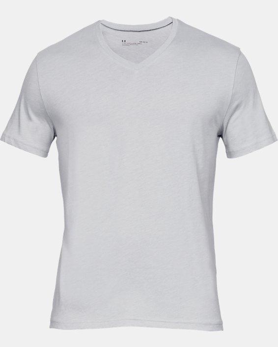 Men's Charged Cotton® V-Neck Undershirt – 2-Pack, Gray, pdpMainDesktop image number 3