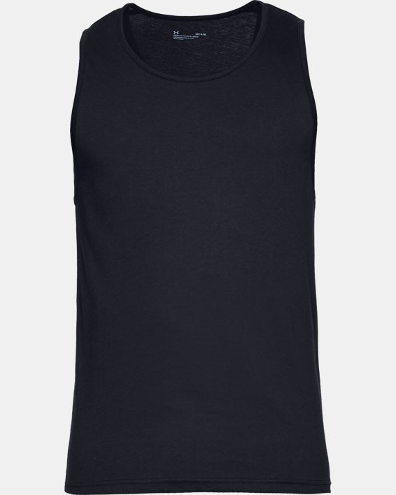 Men's Charged Cotton® Tank – 2-Pack, Black, pdpMainDesktop image number 2