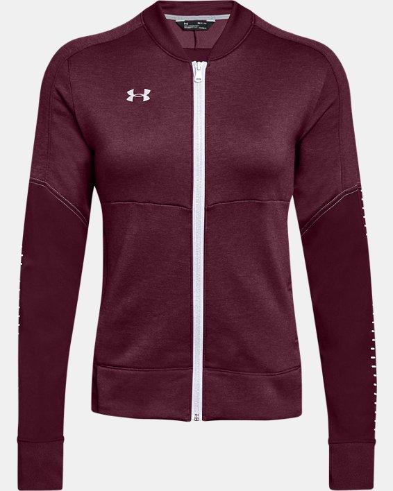 UA - Veste d'échauffement en tricot pour femme, Red, pdpMainDesktop image number 4