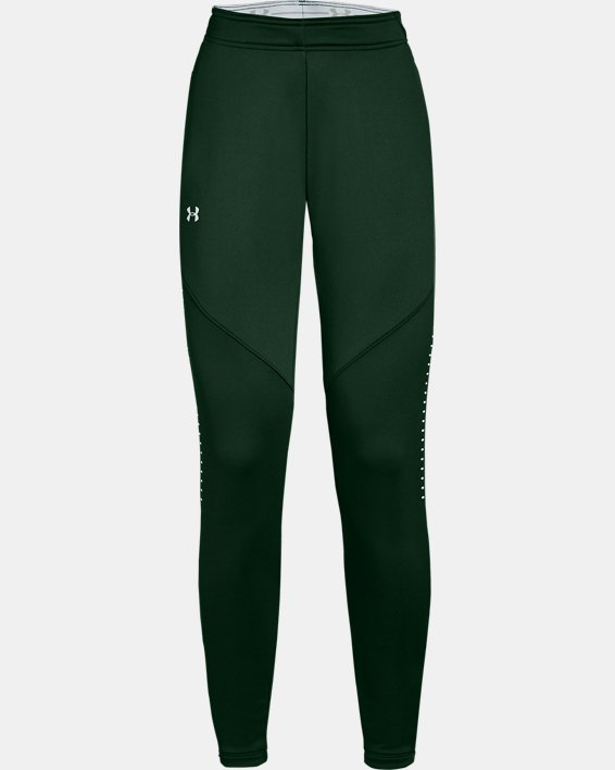 Women's UA Knit Warm-Up Pants, Green, pdpMainDesktop image number 0