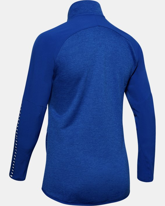 Women's UA Knit Warm-Up ½ Zip, Blue, pdpMainDesktop image number 5