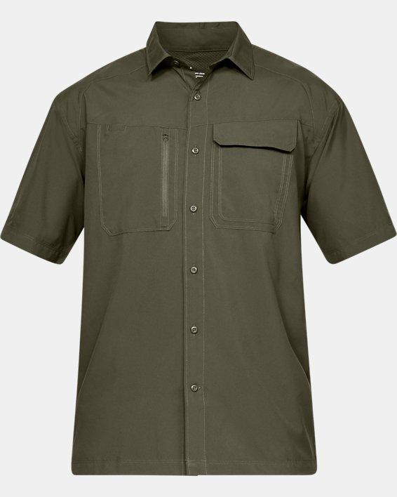 Men's UA Tac Hunter Short Sleeve, Green, pdpMainDesktop image number 3