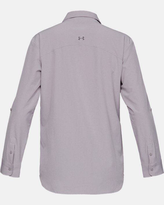 Women's UA Tide Chaser Long Sleeve, Gray, pdpMainDesktop image number 5