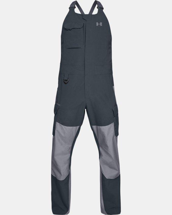 Men's UA GORE-TEX®  Shoreman Bib, Gray, pdpMainDesktop image number 4