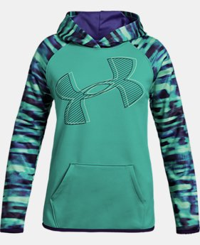 Girls' Armour Fleece® Printed Logo Hoodie  1  Color Available $45
