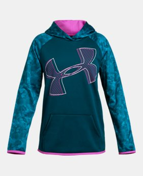 d218f32e5 New to Outlet Girls' Armour Fleece® Printed Logo Hoodie 1 Color Available  $33.99