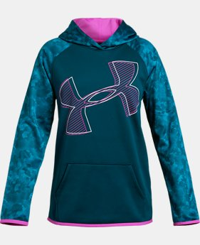 Girls' Armour Fleece® Printed Logo Hoodie  4  Colors Available $45