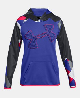 bfbb9858b New to Outlet Girls' Armour Fleece® Printed Logo Hoodie 1 Color Available  $27 to