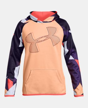 71a207286 New to Outlet Girls' Armour Fleece® Printed Logo Hoodie 3 Colors Available  $33.99