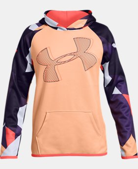 New Arrival Girls' Armour Fleece® Printed Logo Hoodie  1  Color Available $45