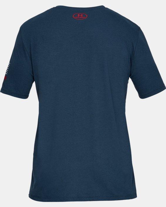 Men's UA Freedom USA Chest T-Shirt, Navy, pdpMainDesktop image number 4