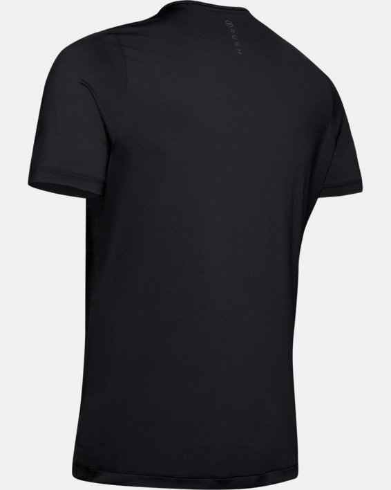 Men's UA RUSH™ Short Sleeve, Black, pdpMainDesktop image number 5