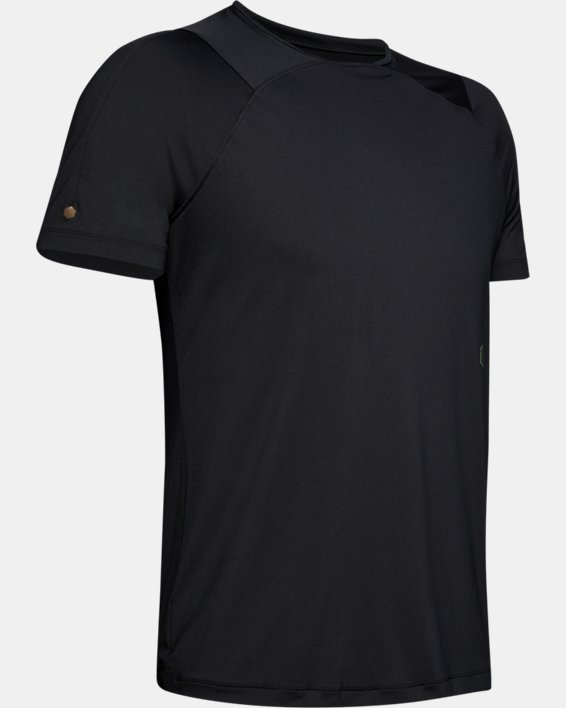 Men's UA RUSH™ Short Sleeve, Black, pdpMainDesktop image number 4