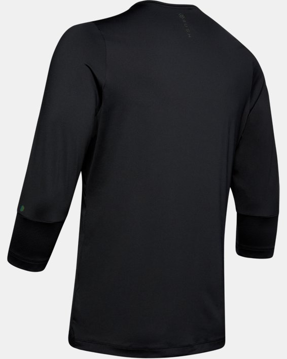 Men's UA RUSH™ ¾ Sleeve, Black, pdpMainDesktop image number 5