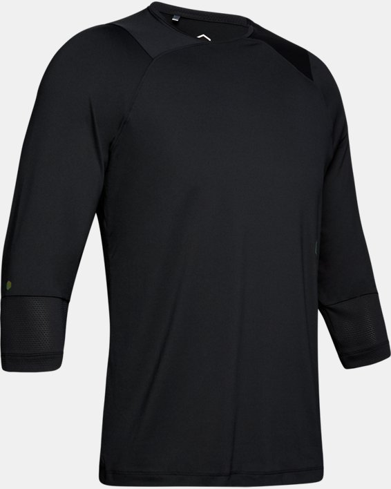 Men's UA RUSH™ ¾ Sleeve, Black, pdpMainDesktop image number 4