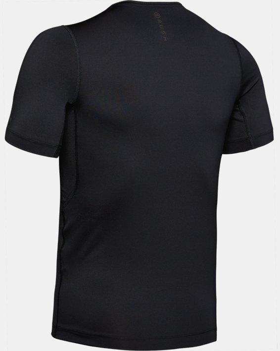 Men's UA RUSH™ Compression Short Sleeve, Black, pdpMainDesktop image number 5