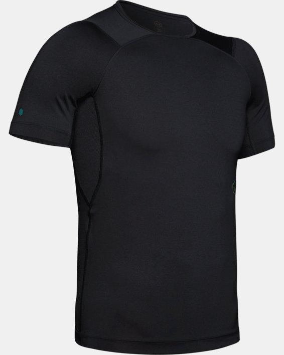 Men's UA RUSH™ Compression Short Sleeve, Black, pdpMainDesktop image number 4