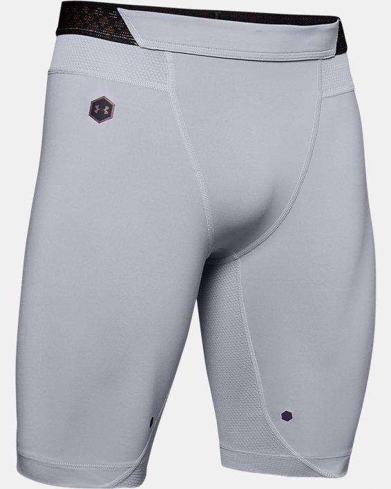 Men's UA RUSH™ Compression Shorts, Gray, pdpMainDesktop image number 4