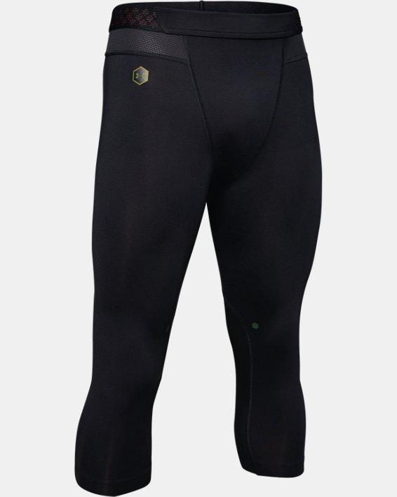 Men's UA RUSH™ ¾ Leggings, Black, pdpMainDesktop image number 4