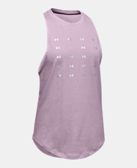 3e6a31c1ee30 Girls' UA Infinity Twist Back Tank 1 Color Available $25