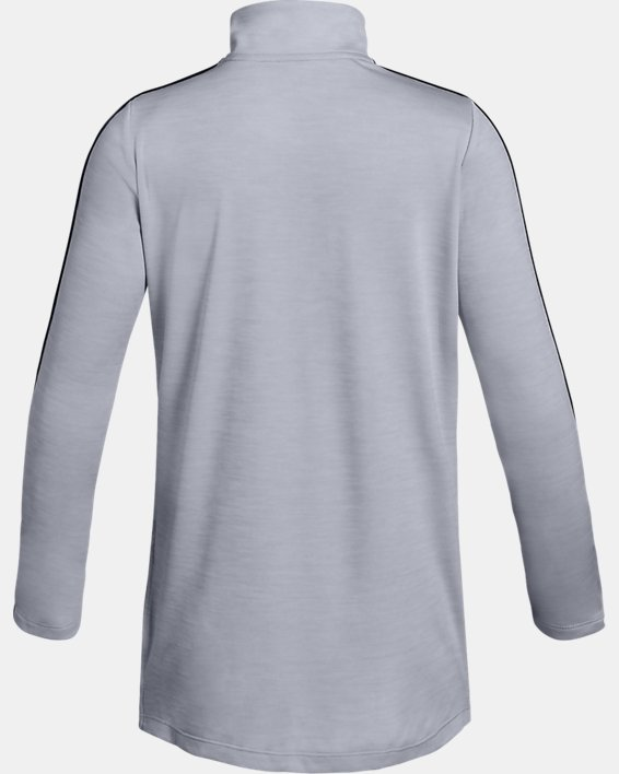 Girls' UA Tech™ ½ Zip, Gray, pdpMainDesktop image number 1