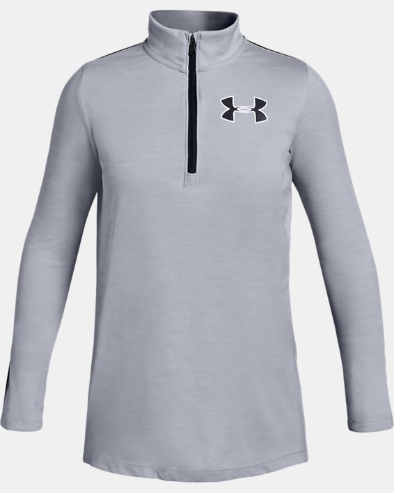 Girls' UA Tech™ ½ Zip, Gray, pdpMainDesktop image number 0