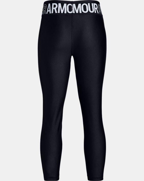 Girls' HeatGear® Armour Ankle Crop, Black, pdpMainDesktop image number 5
