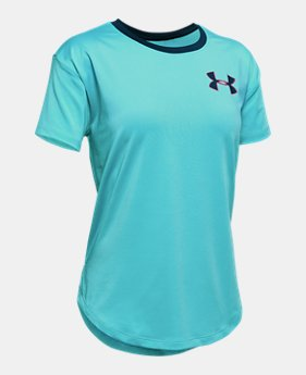 b30b8d04 Girls' HeatGear® Armour Short Sleeve 3 Colors Available $25