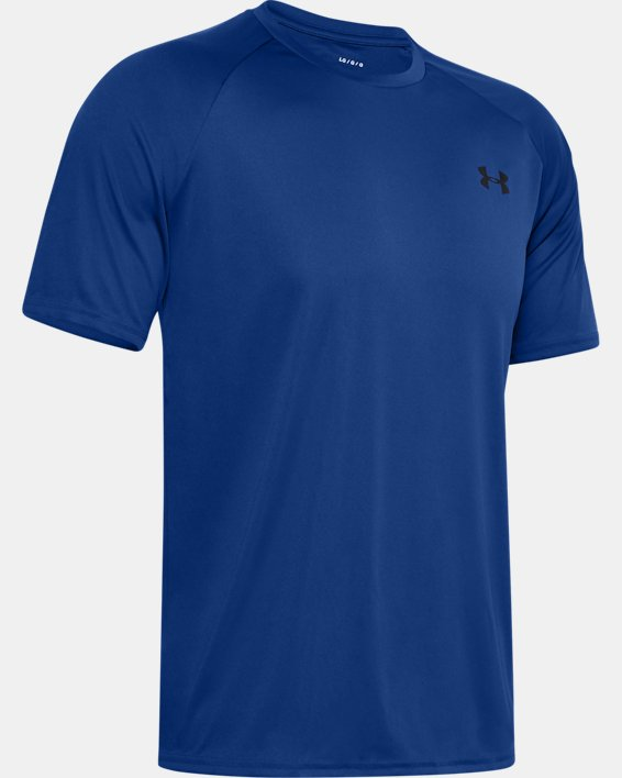 Men's UA Velocity Short Sleeve, Blue, pdpMainDesktop image number 4