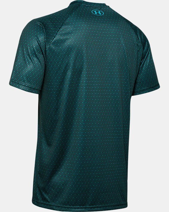 Men's UA Velocity 2.0 Printed Short Sleeve, Green, pdpMainDesktop image number 5