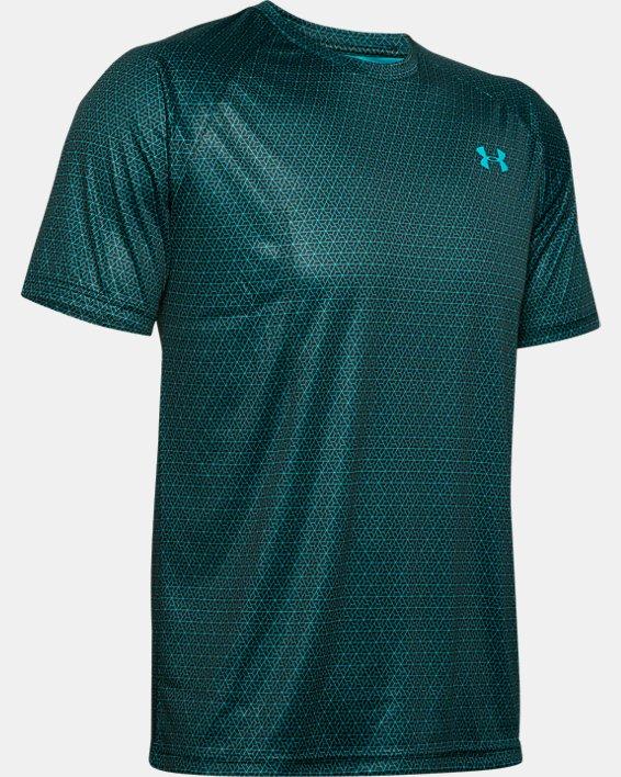 Men's UA Velocity 2.0 Printed Short Sleeve, Green, pdpMainDesktop image number 4