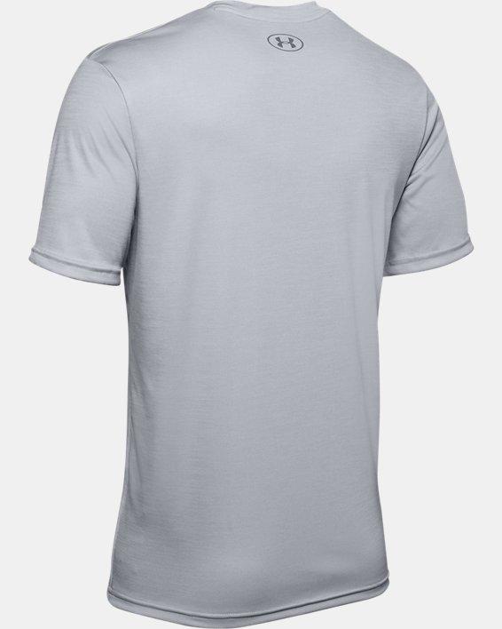 Men's UA Velocity V-neck Short Sleeve, Gray, pdpMainDesktop image number 5