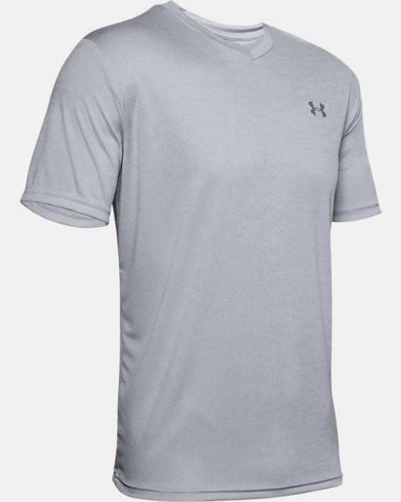 Men's UA Velocity V-neck Short Sleeve, Gray, pdpMainDesktop image number 4
