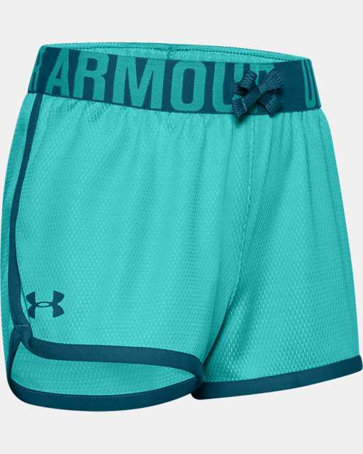 Girls' UA Play Up Mesh Shorts