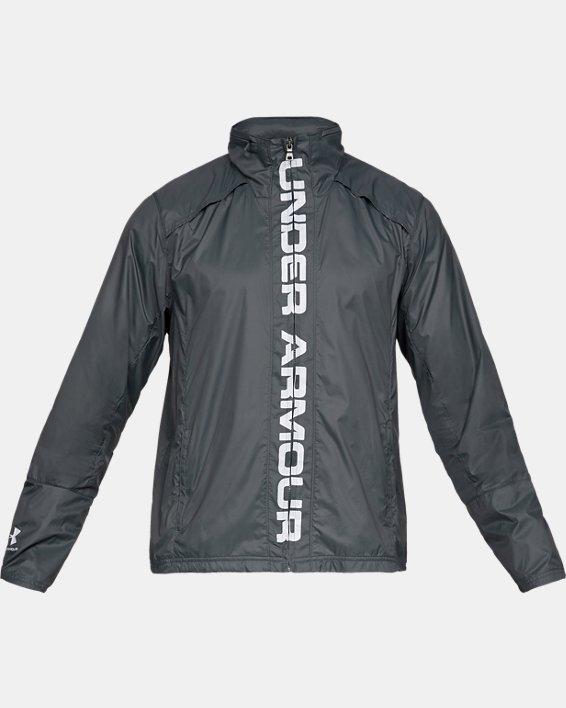 Men's UA Storm Accelerate Pro Shell Jacket, Gray, pdpMainDesktop image number 4