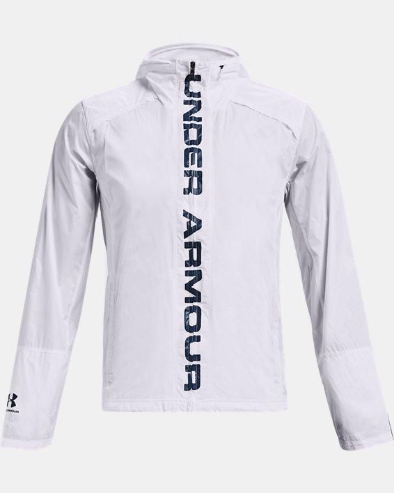 Men's UA Storm Accelerate Pro Shell Jacket, White, pdpMainDesktop image number 3